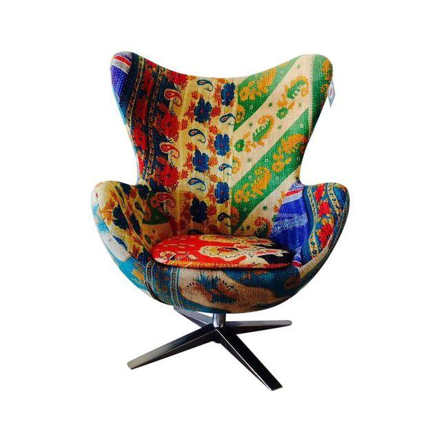 Vintage Kantha Egg Chair as seen at Chairish.com
